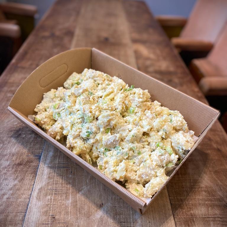 Smashed baby potato salad (V) (GF)