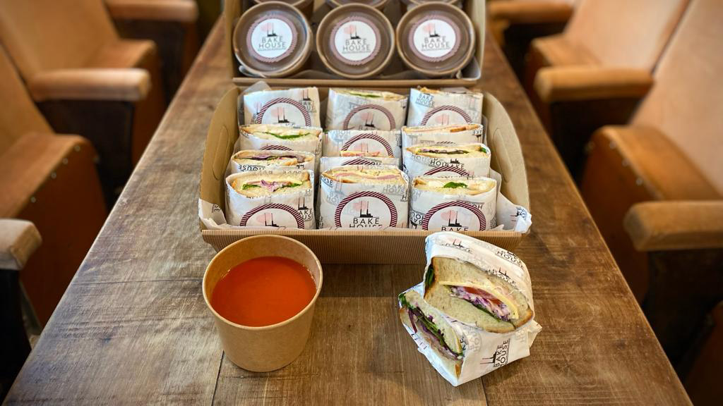 SOUP + SANDWICH  (price per person)