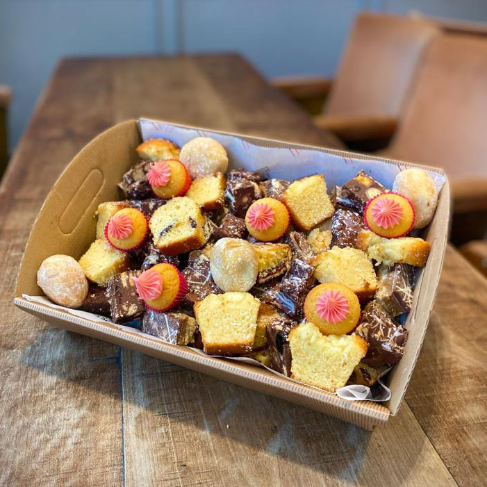 TREAT BOX – A selection of our freshly baked Bakehouse cakes, treats & chocolates (price per person)