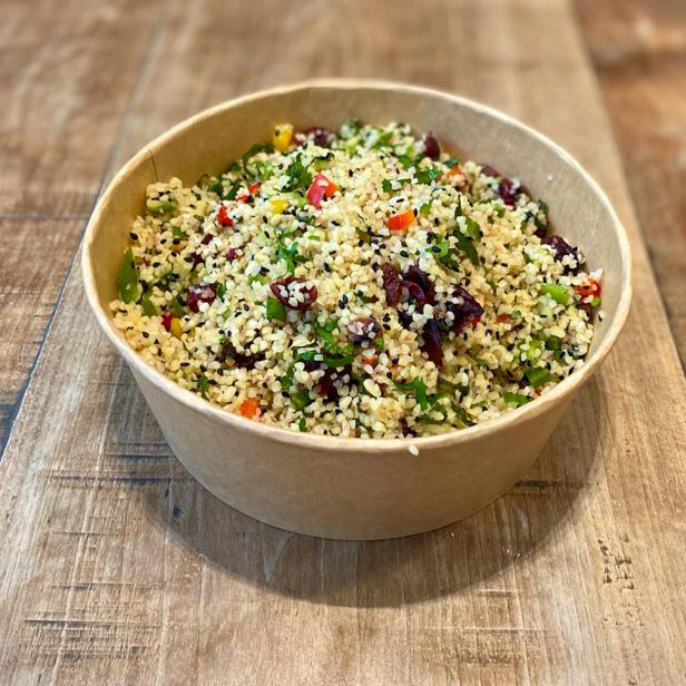 Bulgar wheat with fresh mint & mixed peppers (VE)