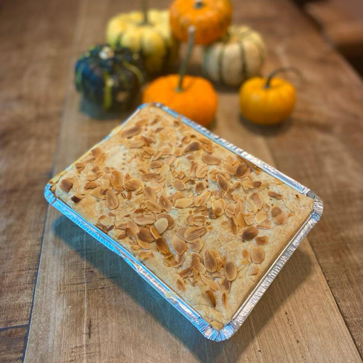 NEW: Creamy pumpkin & vegetable with puff pastry and toasted almonds